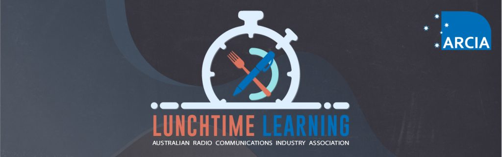 Promotional image of the ARCIA Lunchtime Learning session